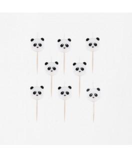 8 Bougies mini Panda