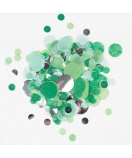 Confettis verts et argent
