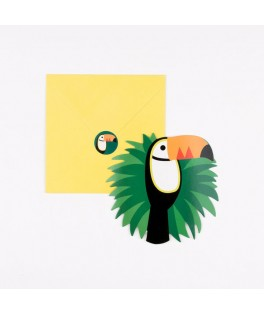 8 Invitations Toucan