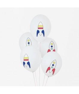 5 Ballons Cosmonaute