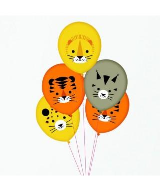5 Ballons Mini Félins