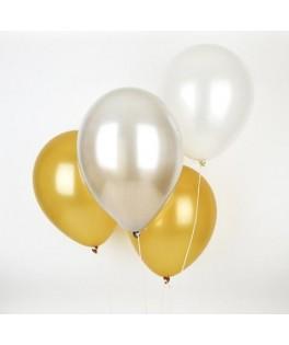 Trio de Ballons or & argent