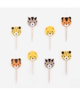 8 Bougies mini Félins