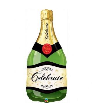 Ballon forme Bouteille de champagne ''Celebrate'' Vert