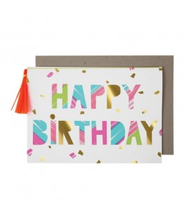 Carte HAPPY BIRTHDAY Traits Peinture