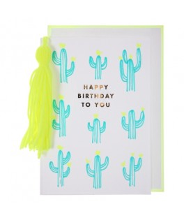 Carte Anniversaire HAPPY BIRTHDAY Cactus