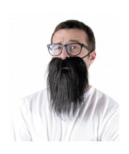 Longue barbe noire avec élastique