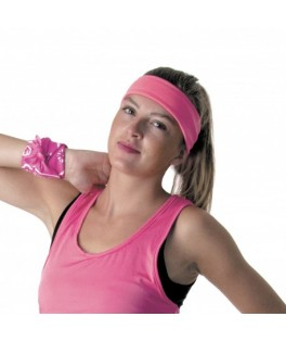 Bandeau Fitness fluo rose