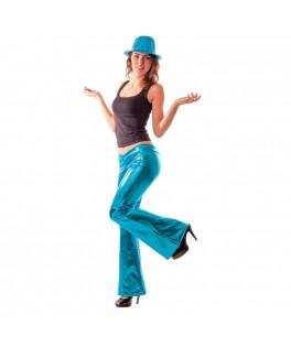 Déguisement Pantalon Disco Turquoise M/L