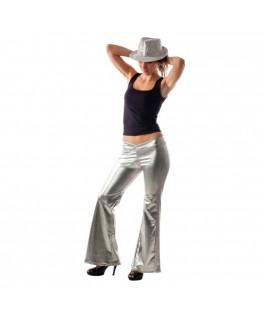Déguisement Pantalon Disco Paillettes argent M/L