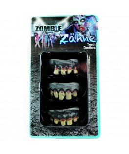 Set de 3 dentiers Zombie