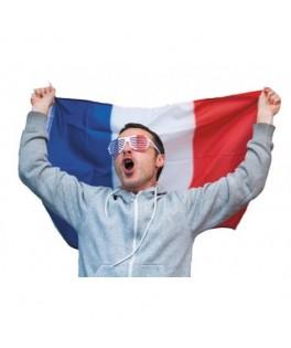 Drapeau Supporter Français 60x90 cm