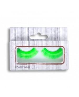 Faux-cils fluo vert