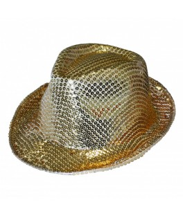 Chapeau Borsalino sequins fluo Or