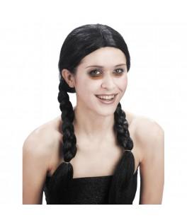 Perruque Tresses noires Halloween