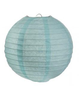 2 Lanternes en papier Bleu ciel 30 cm