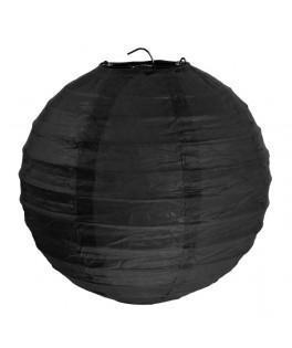 2 Lanternes en papier Noir 30 cm