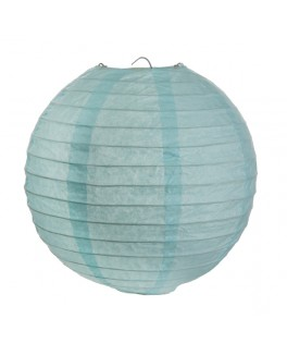 2 Lanternes en papier Bleu ciel 20 cm