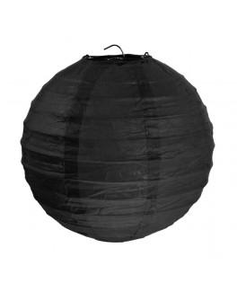2 Lanternes en papier Noir 20 cm