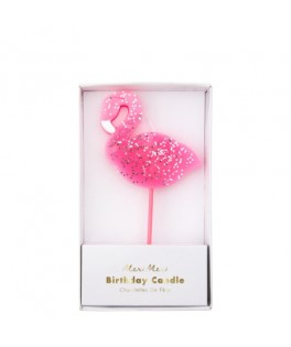 Grande Bougie rose Flamant rose