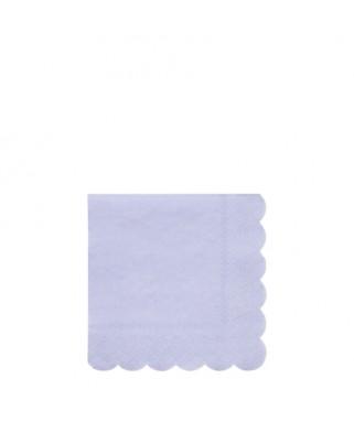20 Petites serviettes pastel Eco bleu 33 cm