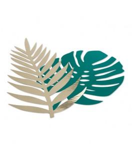 Décorations 6 Feuilles tropicales Vert & Or