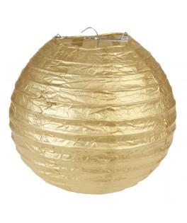 2 Lanternes en papier Or L 20 cm