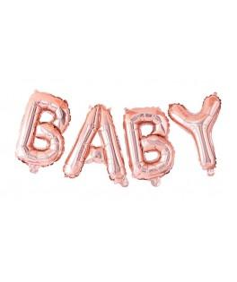 Guirlande de ballons BABY rose gold