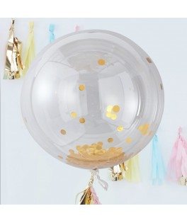 Kit de 8 gros ballons confettis or