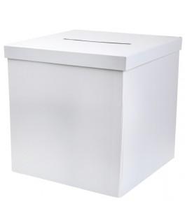 Urne blanche carton carrée pliable 20 cm