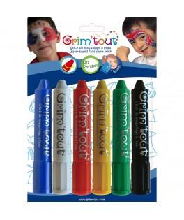6 Crayons de maquillage SPORT