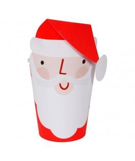 8 Gobelets avec étuis Père Noël