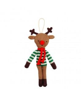 Décoration arbre de Noël Renne tricoté