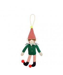 Décoration arbre de Noël Elfe tricoté