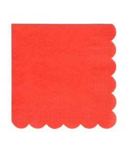 8 Grandes serviettes rouges 33 cm