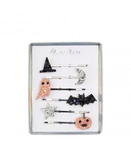 6 Barrettes Halloween