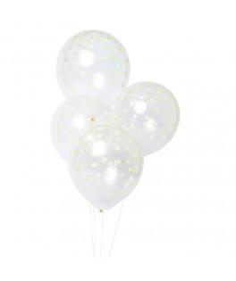 8 ballons confettis fluo