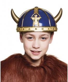 Casque de viking à cornes & tresses