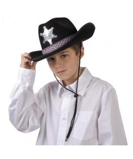Chapeau Chapeau Sheriff noir Enfant