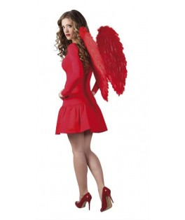 Grandes ailes d'ange plumes rouges