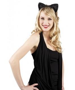 Tiare velours chat noir