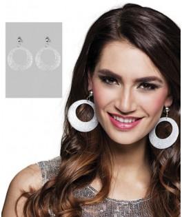 Boucles d'oreilles Paillettes Argent