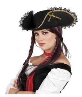 Chapeau Tricorne Fanny noir