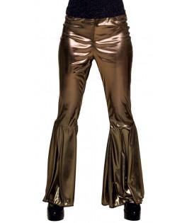 Déguisement Pantalon Flare Disco doré M