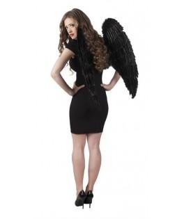 Grandes ailes d'ange plumes noires XXL