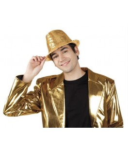 Chapeau Popstar Sequins Or