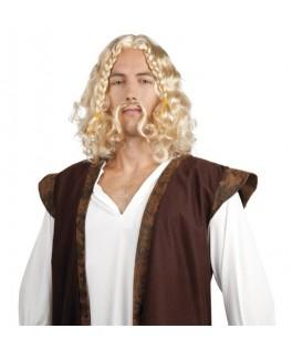 Perruque Viking avec moustache