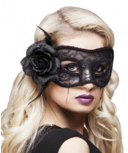 Masque dentelle Mystique noir