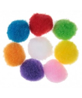 Pompons multicolores