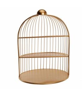 Cage métal dorée
